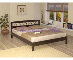 Кровать из массива дерева Жоржетта тахта с ковкой