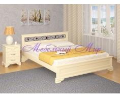 Кровать из массива дерева Лира тахта с ковкой
