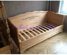 Недорогая односпальная кровать Муза 3 спинки