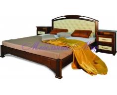 Кровать из массива дерева Омега сетка со вставкой