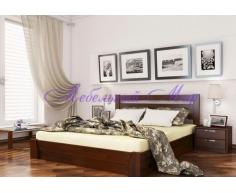 Кровать из массива дерева Селена прямая
