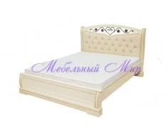 Кровать из массива дерева Сиена тахта с ковкой
