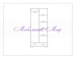 Купить распашной шкаф 2 створчатый Витязь 108